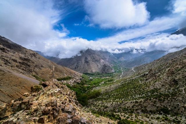Tizi N'Mzik, Tizi N'Mezzik, Arghen Village, Imlil Valley, High Atlas Mountains, Morocco