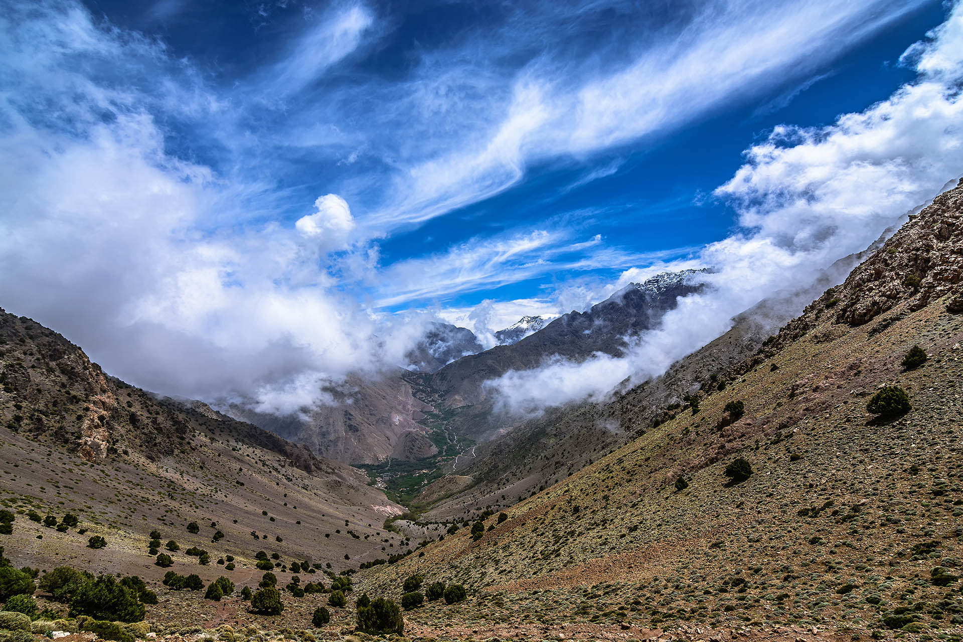 Tizi N'Mzik, Tizi N'Mezzik, Imlil Valley, High Atlas Mountains, Morocco