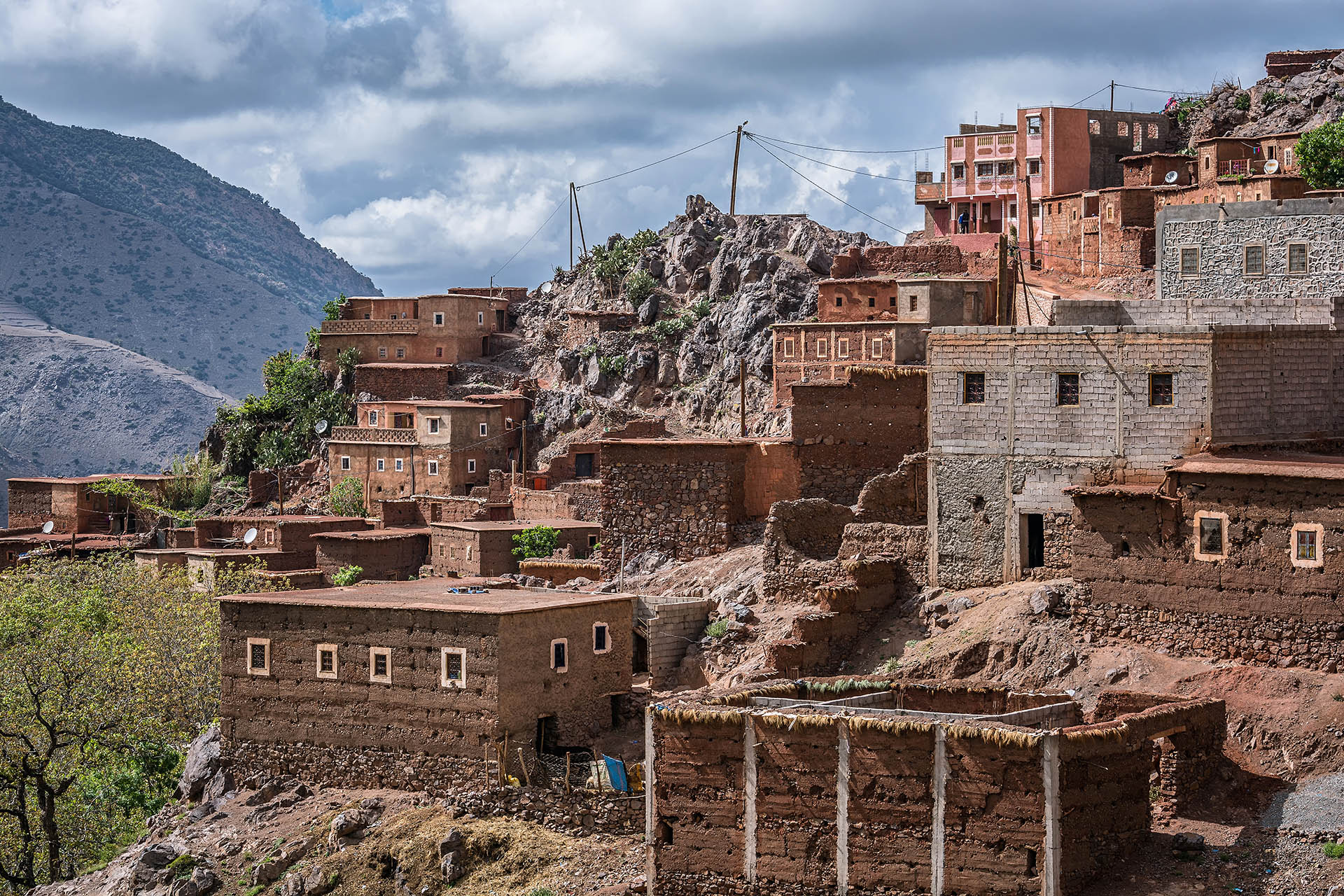 houses, Id Issa Village, Azzaden Valley, High Atlas Mountains, Morocco